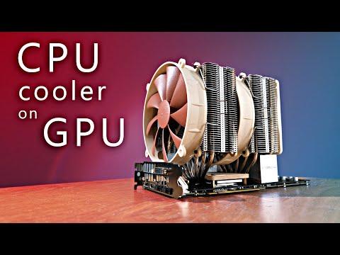 CPU cooler on GPU - superb performance!