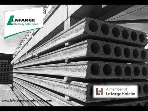 Lafarge Precast Edmonton Concrete Hollowcore Production Process Alberta Canada