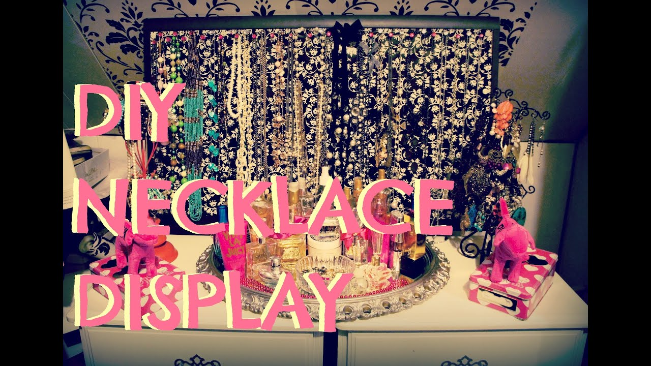 diy room decor: display/store your necklaces/jewelry - youtube