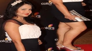 Sexy TV Bahu Giaa Manek Spotted At Red Carpet Of Celebration Colors Bash!