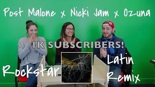Post Malone x Nicky Jam x Ozuna | Rockstar Latin Remix (Reaction) | The Millennial Chisme