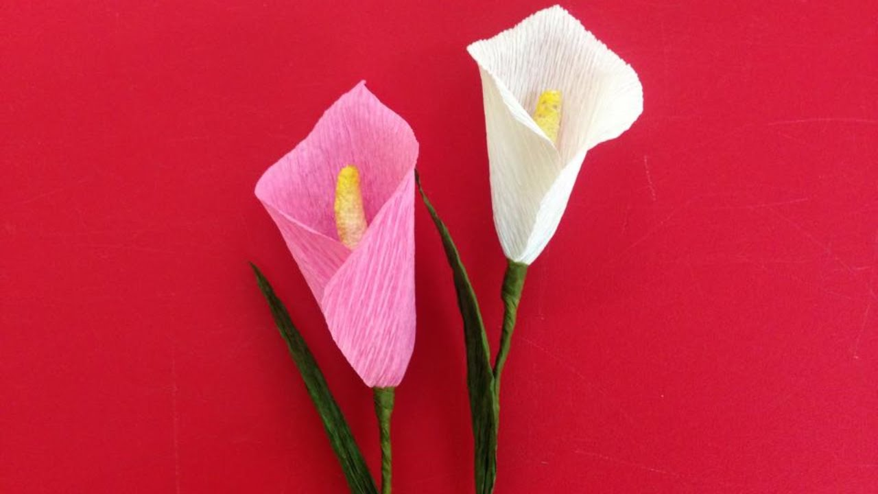 how to make calla lily crepe paper flowers