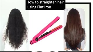 How to straighten hair like celebrities | frizz free, shiny straight hair
