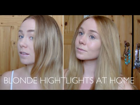how to become blonde at home
