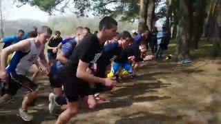start  running 3 km men
