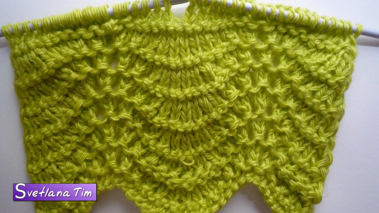 перо павлина схема вязания