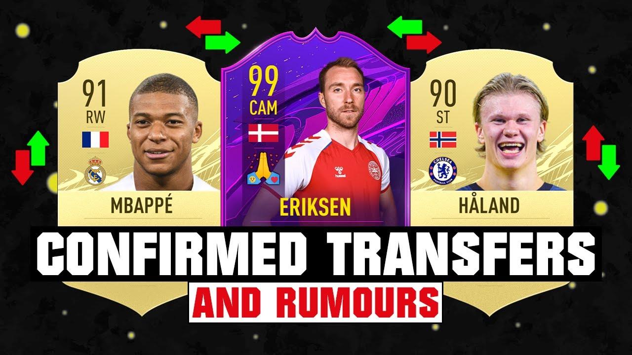 FIFA 22 | NEW CONFIRMED TRANSFERS & RUMOURS! 🤪🔥 ft. Mbappe, Haaland, Eriksen❤️... etc