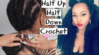 HALF UP HALF DOWN CROCHET TUTORIAL: Natural Hair