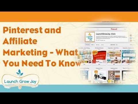 Pinterest and affiliate marketing - what you need to know thumbnail