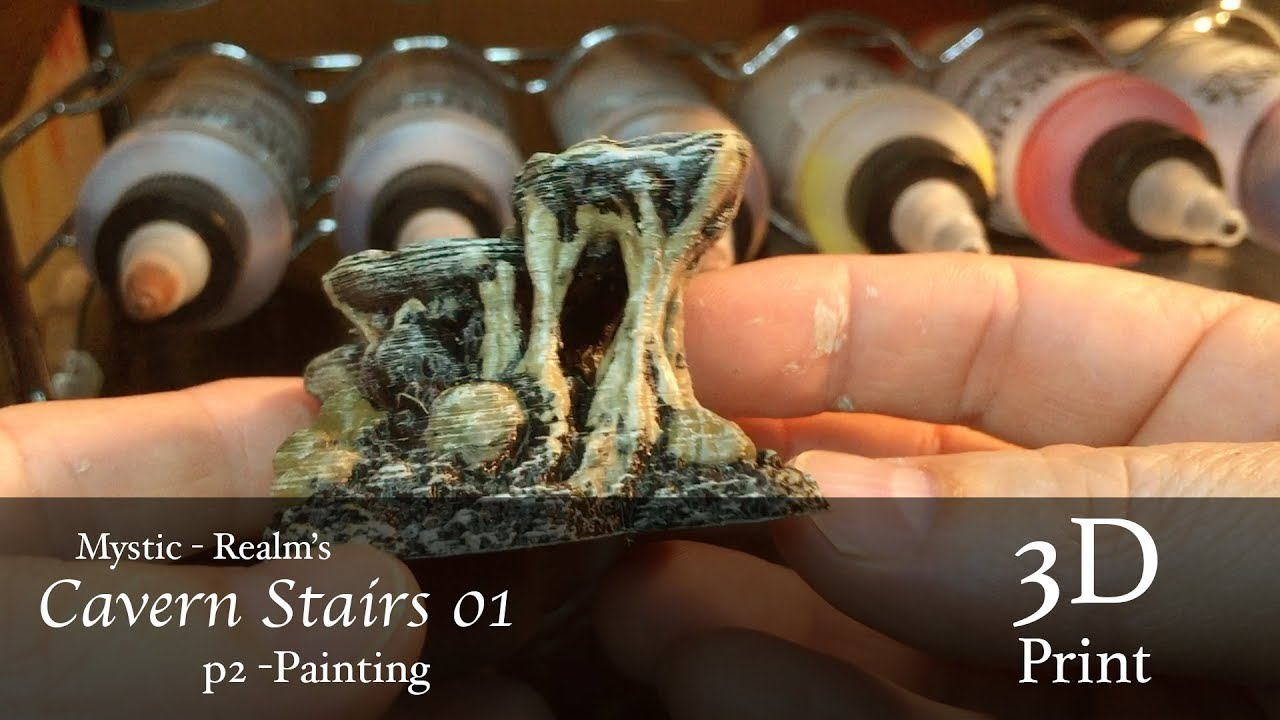 How to Paint Mystic-Realms 3d Printed Cavern Stairs 01 to match Dwarven  Forge Terrain