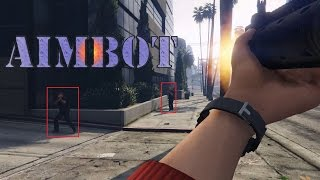 KILLING EVERYONE WITH AN AIMBOT MOD : GTA 5 AIMBOT GAMEPLAY PC 60fps