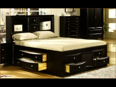 Contemporary Bed Frame With Drawers Decoration