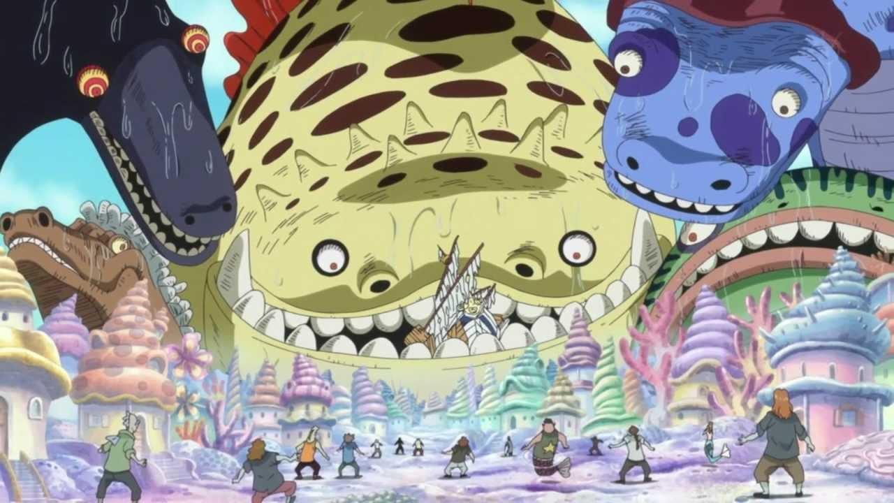 Shirahoshi invoca a Reyes Marinos HD One Piece arma ancestral poseidon haki  - YouTube