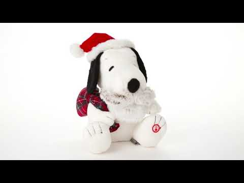 new for 2018 Snoopy Santa Musical Stuffed Animal With Motion