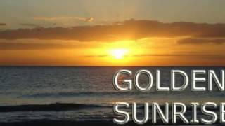 Golden Sunrise Nature Relaxation Video - Relaxing Sea Ocean Waves Sounds