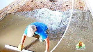 Как сделать бетонный пол в гараже(Техника выполнения бетонного армированного пола в гараже своими руками. Методика выравнивания и установки..., 2013-08-11T12:10:40.000Z)