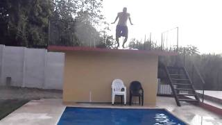 Pablo dives in pool.MP4 Thumbnail