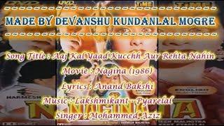 Aaj Kal Yaad Kuchh Aur Rehta Nahin Karaoke with Scroliing Lyrics - Mohammed Aziz - Nagina