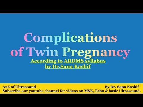 Complications of Twin Pregnancy - A2Z of Ultrasound