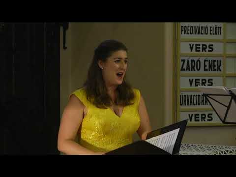 Kristóf Réka jótékonysági hangversenye a református templomban