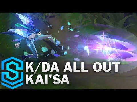 K/DA ALL OUT Kai'Sa Skin Spotlight - Pre-Release - League of Legends