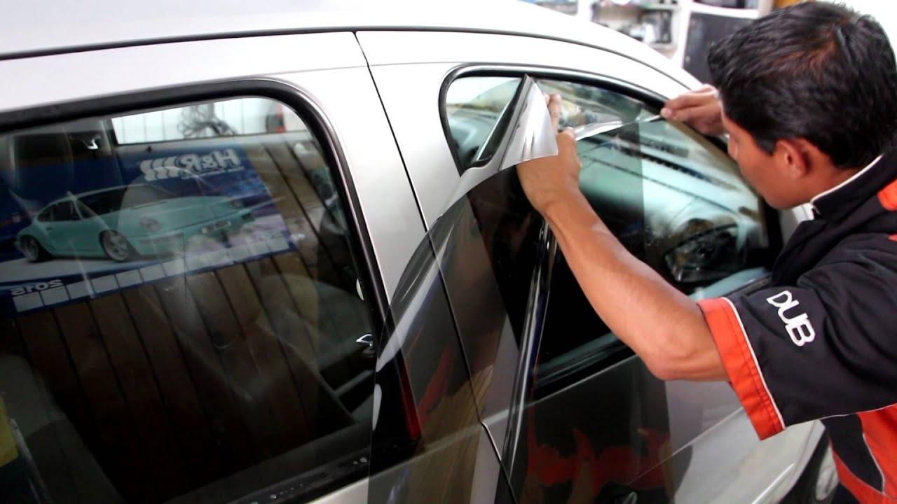 Venta De Carros >> Instalación de Película de Seguridad Viper - YouTube