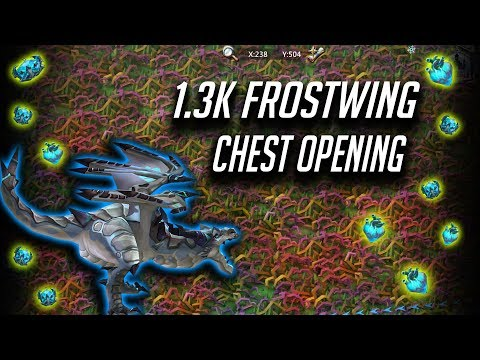 1.3 K Frostwing Chest Opening, How Many Gold Hearts Did I Get ? 💛