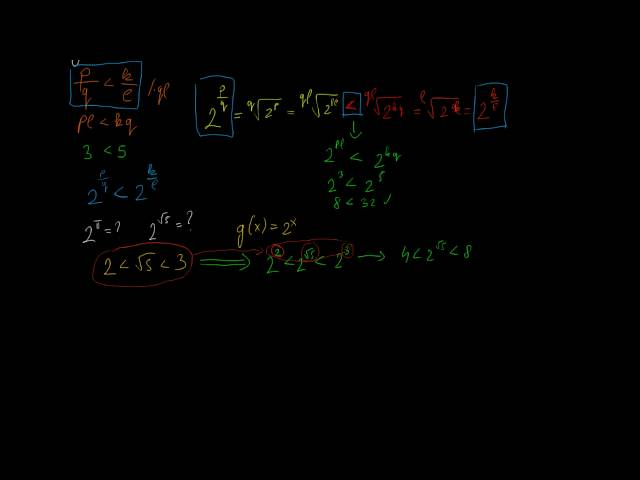 Irracionális kitevőjű hatvány és exponenciális függvények 1