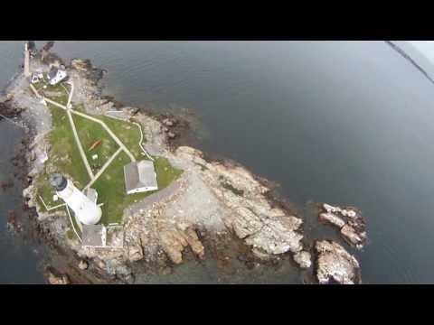 Kite Aerial Photography + GoPro at Little Brewster / Boston Light (Boston, MA)