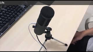СТУДИЙНЫЙ КОНДЕНСАТОРНЫЙ USB МИКРОФОН 4SPORT MA-AK5 краткий видео обзор