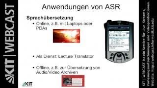 Lektion 01, Grundlagen der Automatischen Spracherkennung, 21.10.2013, WS13/14