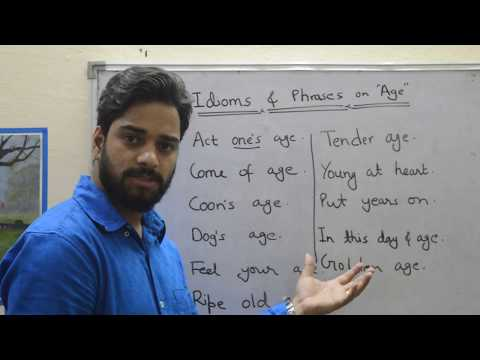 Impressive Idioms & Phrases on 'AGE with meaning'| Learn English Vocabulary words
