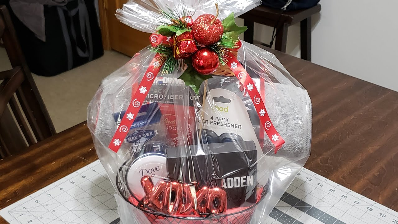 Christmas Gift Baskets For Him.Christmasgift Giftbaskets Christmasbasket Diy Christmas Gift Basket For Him