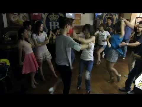 Salsa Dancing in Guangzhou China, with Kim-Jump & Jing-Jing