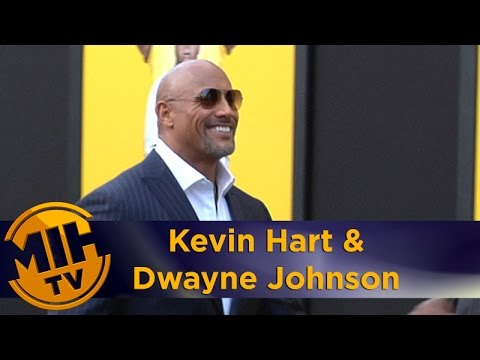 Kevin Hart and Dwayne Johnson at 'Central Intelligence' Premiere