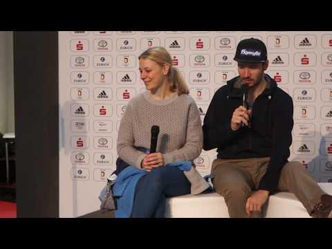 Miriam und Felix Neureuther - Kinder fragen, Teil 2 @ Einkleidung Team Deutschland für Olympia