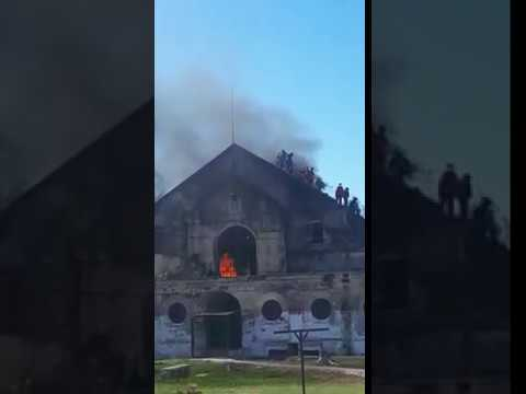 Video: incendio en la cárcel de Coronda