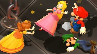 Mario Party 9 Garden Battle - Peach vs Daisy vs Wario vs Mario Master Difficulty Nintendo Games