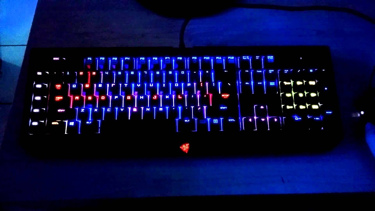 Razer blackwidow ultimate chroma lighting demo lights off Ultimate lighting