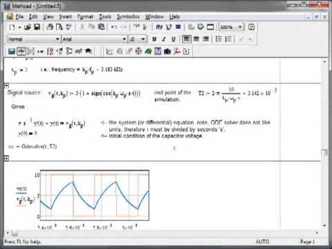 simple circuit simulation in mathcad using odesolverElectronic Circuit Analysis And Design With Mathcad Electronic #9