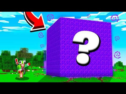 FINDING A MYSTERY MINECRAFT CUBE.. WHAT'S INSIDE!? thumbnail