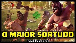 O CORREDOR MAIS SORTUDO DE TODO O MUNDO - Clash of Clans - Bruno Clash