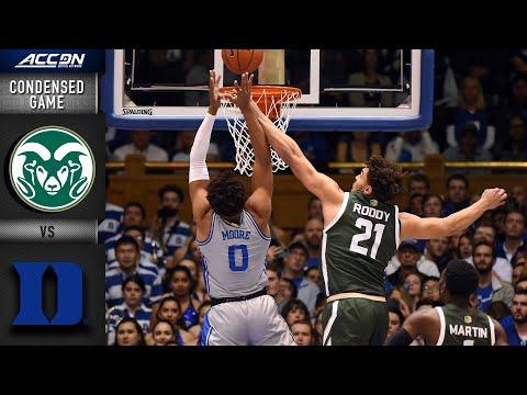 Colorado State Vs. Duke Condensed Game | 2019-20 ACC Men's Basketball