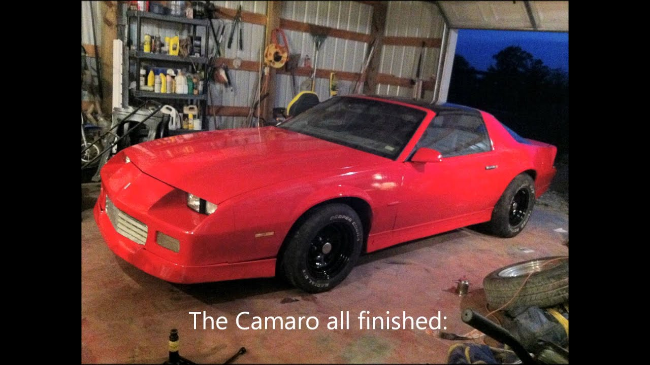 1986 camaro red rustoleum spray paint job youtube. Black Bedroom Furniture Sets. Home Design Ideas
