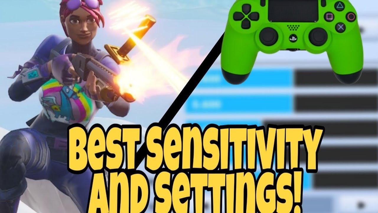 BEST SENSITIVITY + SETTINGS For FORTNITE! (PS4 + Xbox ...