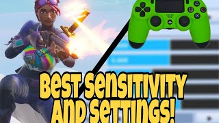 BEST SENSITIVITY + SETTINGS For FORTNITE! (PS4 + Xbox Fortnite Battle Royale) #soyrc