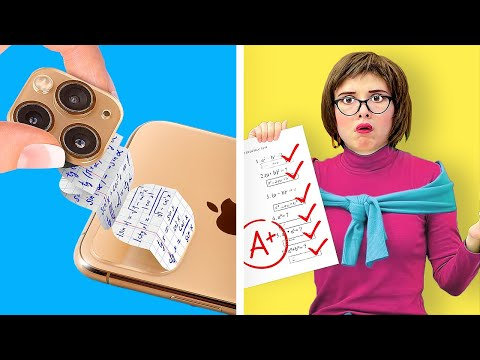 SNEAKY SCHOOL HACKS FOR A TEST! || Funny School DIYs And Tricks by 123 Go! Live