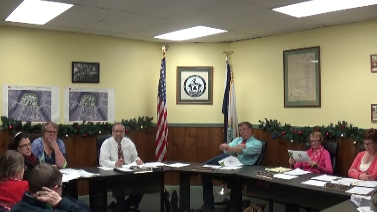Champlain Village Board Meeting part one  12-11-17