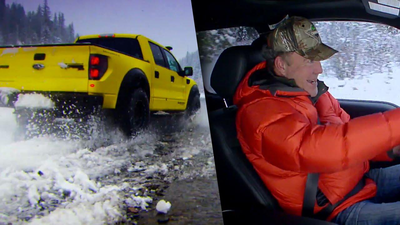 Top Gear OMG Moment Jeremy Clarkson speeds through an icy river