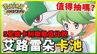 【Pokemon Masters|寶可夢大師】滿充u0026艾路雷朵格鬥卡池!5星路卡利歐數值比較!今次值得抽嗎?